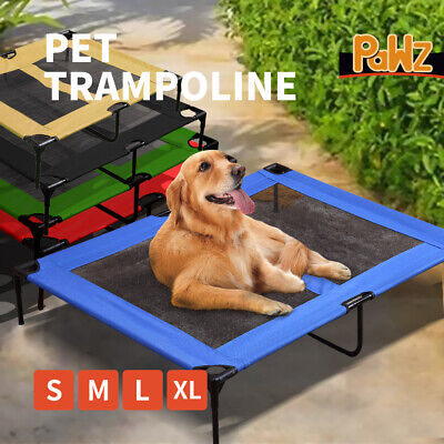 Heavy Duty Pet Bed Trampoline Dog Puppy Cat Hammock Mesh S M L XL AU STOCK