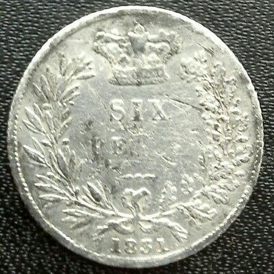 1831 William IIII Silver Sixpence