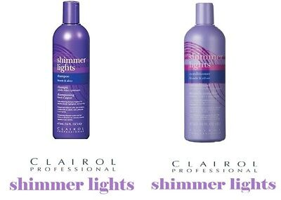 CLAIROL SHIMMER LIGHT SHAMPOO And CONDITIONER for Blonde & Silver - UK SELLER