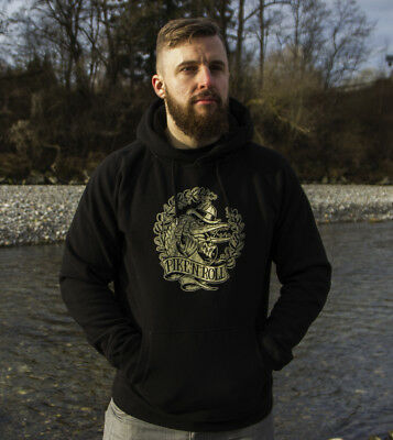 PETRI CLOTHING - PIKE Hoodie / Angeln Angler Anglershirt Sweater Hecht Pullover