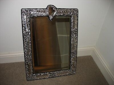 Antique Solid Silver Dressing Table Mirror. Hallmarked 1907. Beautiful Condition