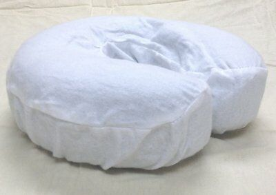 4 piece Massage Table Face Cradle Covers Head Rest Flannel Pad Cover White NEW