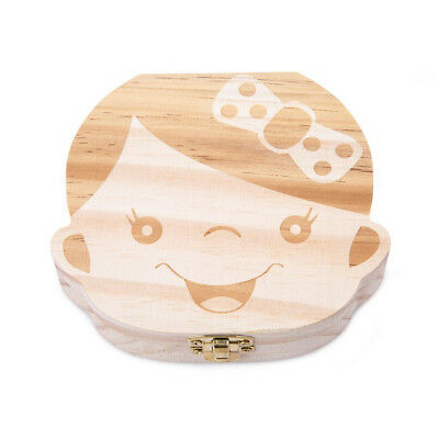 Cute Personality Baby Teeth Box Save Wooden Boxes Deciduous Souvenir Box To N5O5