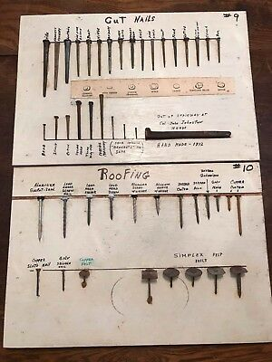 Incredible Vintage 1960's Personal Collection History of Nails NINE Boards LOOK!