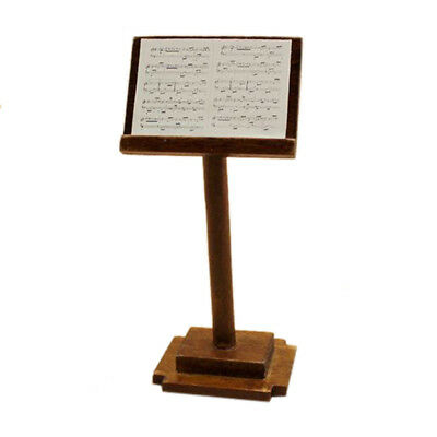 1/12 dollhouse miniature wooden music stand with score X1V3 B7C3