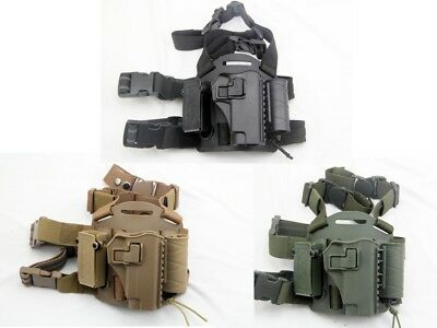 ARMY BLACKHAWK Military Tactical Drop Leg Thigh Right-hand Holster for Colt 1911