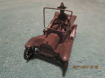 Vintage Model T Ford Plastic Toy Car With Hillbilly Driver..