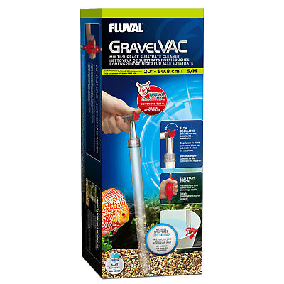 Fluval GravelVac Multi Substrate Cleaner Small/Medium cleans tanks up to 50cm