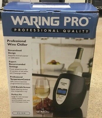 NEW WARING PC100 Pro Professional electric Wine Chiller/Warmer TABLETOP