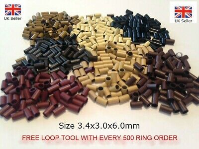 Copper Micro Tubes,Links,Rings,Beads,For Stick Tip hair, 3.0 mm FREE TOOL!!!!