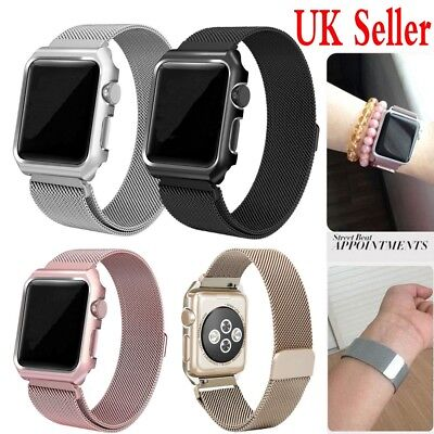 UK 38/42mm Metal Magnetic Stainless Steel Wrist Band Strap For iWatch AP Watch