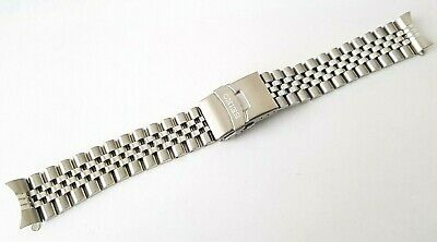 Seiko 20Mm Divers Jubilee Stainless Steel Watch Strap / Band Curved End (Se-6A)