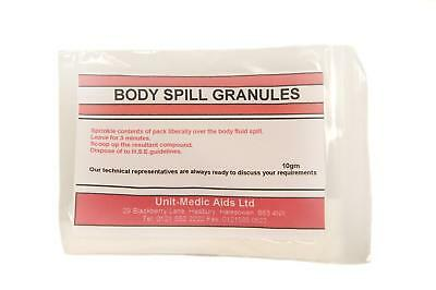 Unit-Medic Aids Ltd Body Spill Absorbent Granules (Choose 10g, 100g or 500g)