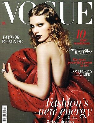VOGUE UK January 2018 TAYLOR SWIFT Tom Ford KRISTIN SCOTT THOMAS Bella Hadid NEW