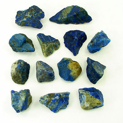500.00 Ct Natural Blue Lapis Lazuli Loose Gemstone Stone Rough Lot 13 Pcs - 5481