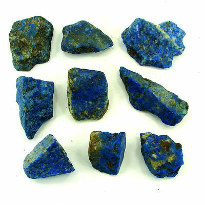 500.00 Ct Natural Blue Lapis Lazuli Loose Gemstone Stone Rough Lot 9 Pcs - 5472