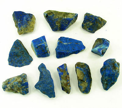 500.00 Ct Natural Blue Lapis Lazuli Loose Gemstone Stone Rough Lot 12 Pcs - 5480