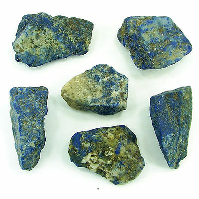 500.00 Ct Natural Blue Lapis Lazuli Loose Gemstone Stone Rough Lot 6 Pcs - 5453