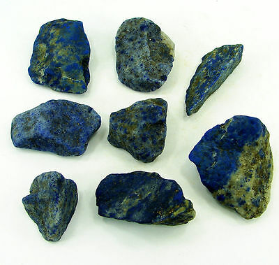 500.00 Ct Natural Blue Lapis Lazuli Loose Gemstone Stone Rough Lot 8 Pcs - 5463