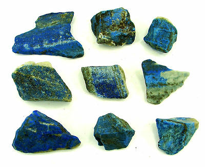 500.00 Ct Natural Blue Lapis Lazuli Loose Gemstone Stone Rough Lot 9 Pcs - 5471