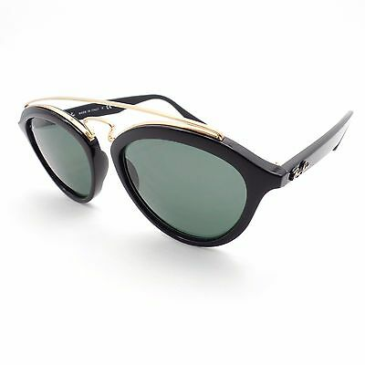 6bfcd7bf71 RAY BAN 4257 601 71 50mm Black Gold Green New Authentic Sunglasses ...