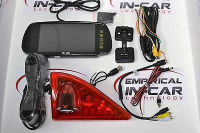 """Renault Master Sony CCD NTSC Reverse Camera with 7"""" Mirror & Bracket"""