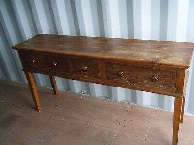 Antique French Pine Farmhouse Serving Side Table