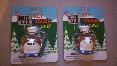 LOT OF 2 SOUTH PARK Chef keychain FREE SHIPPING! 1998 Comedy Central OOP rare