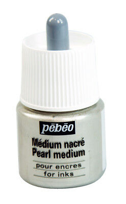 Pebeo Pearl Medium Iridescent Effect for Ink & Watercolour Paint 45ml
