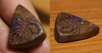 30ct Boulder Opal Polished Slice - Neon Veins - Winton QLD - See Video