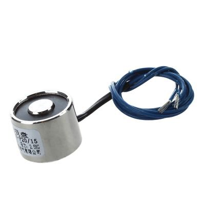 20x15mm DC Electro Holding Magnet Force 2.5Kg 12V w 18.5cm Cable TS