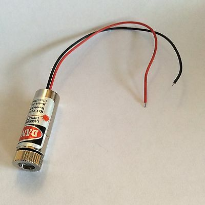 650nm 5mW Red Laser Dot Module RYS1230 IIIa Adjustable Focus Flux Metal Wire UK