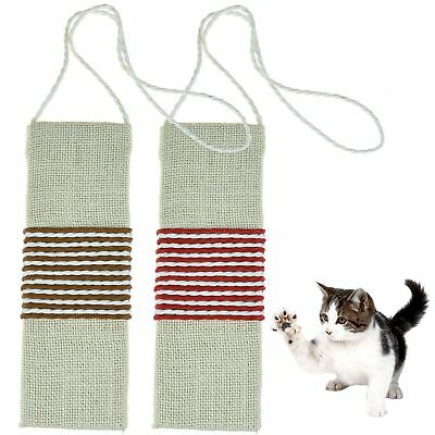 Pet Kitten Cats Hanging Scratching Post Wall Scratch Sisal Board Claw Paw Care