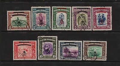 North Borneo 1947, F/Used 1cent to 25cents Definitive Set Lot.