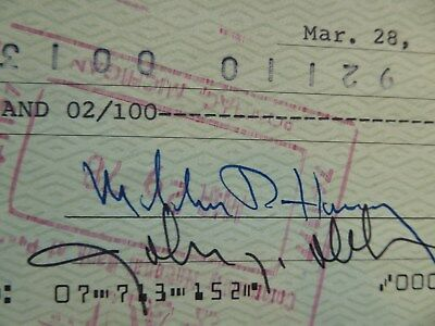 Bank Check to DMC Signed John DELOREAN & Part of John Z. DeLorean Corp. Brochure
