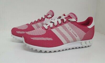 Junior,S Adidas La Weave Pink White Girl's Trainers S82800