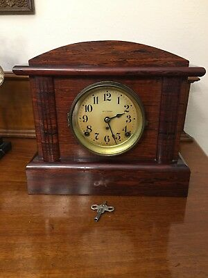Antique Seth Thomas Mahogany Adamantine Mantle Clock 89 AD Movement NEEDS WORK