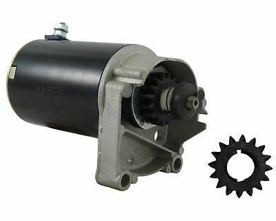 Starter Motor Briggs Stratton 14 16 18 Hp 497596 V Twin With Free Gear