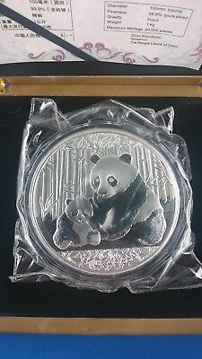 Chinese Panda 2012 1 kg Commemorative silver coin with Box & COA