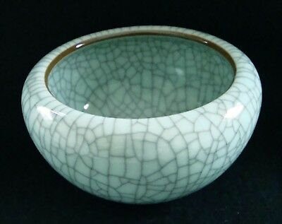 Rarität China - Turquoise Crackle Glaze Jun Ware Brush Washer / Pinselwascher