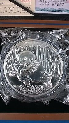 Chinese Panda 2015 1 kg Commemorative silver coin with Box & COA