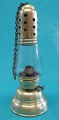 Antique Brass Skaters Lantern – Hurricane Lantern Company – NY – 1867