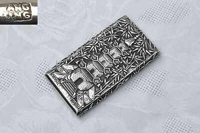 Superb Antique Chinese Silver Gentleman'S Visitor'S Card Case – Wang Hing 1894