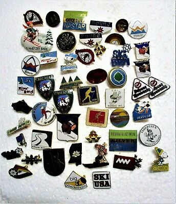 50+ Skiing Lapel Pins Various Ski Hills And Events