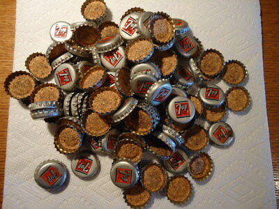 430-Seven-Up bottle caps-14 misc caps - USED