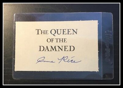 AUTOGRAPHED HAND SIGNED by Anne Rice Queen of Damned Signature with COA FREE S&H