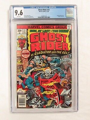 Ghost Rider #21 (1976) CGC 9.6 White Pages Marvel Comics CM228