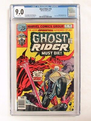 Ghost Rider #19 (1976) CGC 9.0 White Pages Marvel Comics CM230