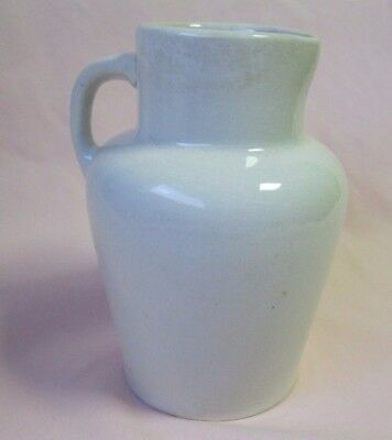 Antique French Ironstone creamer, stoneware, Crary & Cie Moutarde Universelle