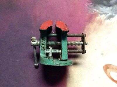 Vintage Small Table Bench Vice 1-1 1/2 Inch jaw Mountable Japan